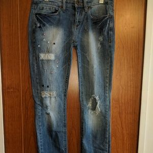 size 1 Mudd jeweled distressed Jeans